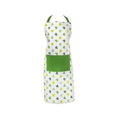 Cotton Shamrock Shake Print Chef Apron Green - Design Imports