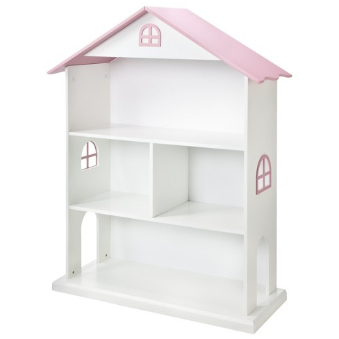 Dollhouse Kids Bookcase White Pink