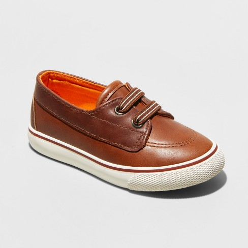 Toddler Boys' Kaiser Boat Shoes - Cat & Jack™ Brown - image 1 of 3