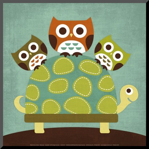 Art.com - Three Owls on Turtle - image 1 of 1