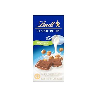 Lindt Classic Recipe Hazelnut Milk Chocolate Bar - 4.4oz