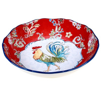 144oz Earthenware Morning Bloom Serving Bowl - Certified International