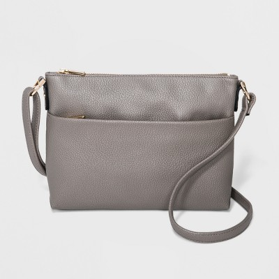 Zip Closure Crossbody Bag - A New Day™