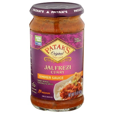 Pataks Jalfrezi Curry Simmer Sauce Medium - 15oz