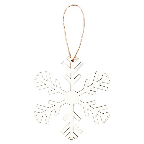 Hand Made Modern - Small Wood Snowflake Ornament - Snowflake 1 - image 1 of 1