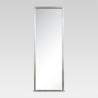 Rectangle Leaner Floor Mirror Silver - Threshold™