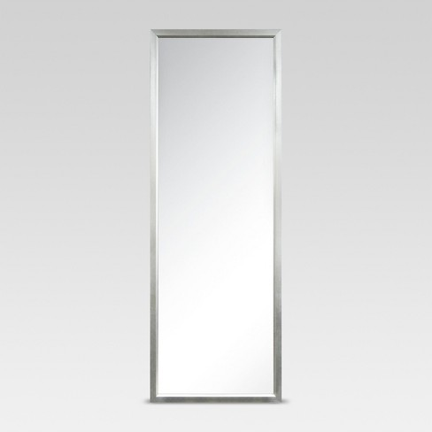 Rectangle Leaner Floor Mirror Silver - Threshold™ - image 1 of 7