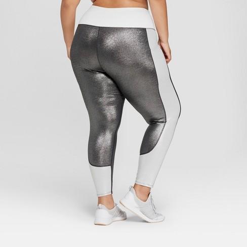 3f4769bb681995 Women's Plus Size 7/8 High-Waisted Shine Leggings With Side Pockets - JoyLab™  Gunmetal Black 4X : Target