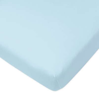 Honest Baby Organic Cotton Fitted Crib Sheet - Light Blue