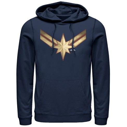 Men's Marvel Captain Marvel Star Symbol Costume Pull Over Hoodie - image 1 of 1