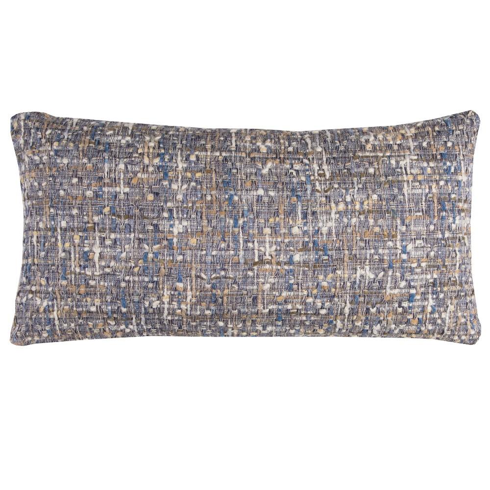 Rizzy Home Stripe Throw Pillow Navy (Blue)