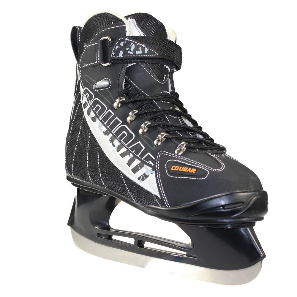 Cougar Men's Soft Boot Hockey Skates - Black/Gray 12
