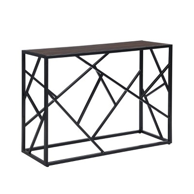 Cressida Console Table Elm/Black - Carolina Chair & Table