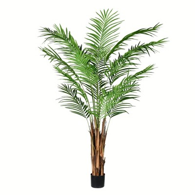 Vickerman Artificial Potted Giant Areca Palm Tree.