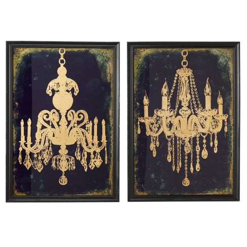 Large Gold Chandeliers Wall Art, Chandelier Wall Decal Target