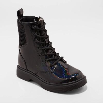 Girls' Nola Zipper Combat Boots - art class™ Black