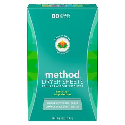 Method Beach Sage Dryer Sheets - 80ct