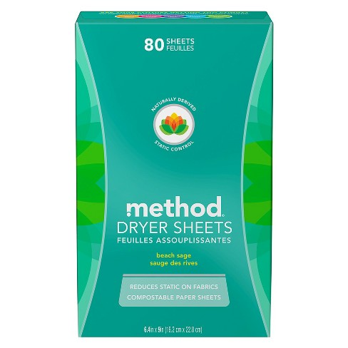 Method Beach Sage Dryer Sheets - 80 ct - image 1 of 4