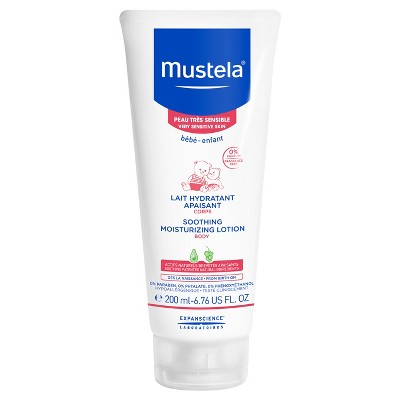 Mustela Sensitive Moisturizing Soothing Baby Body Lotion Fragrance Free - 6.76 fl oz