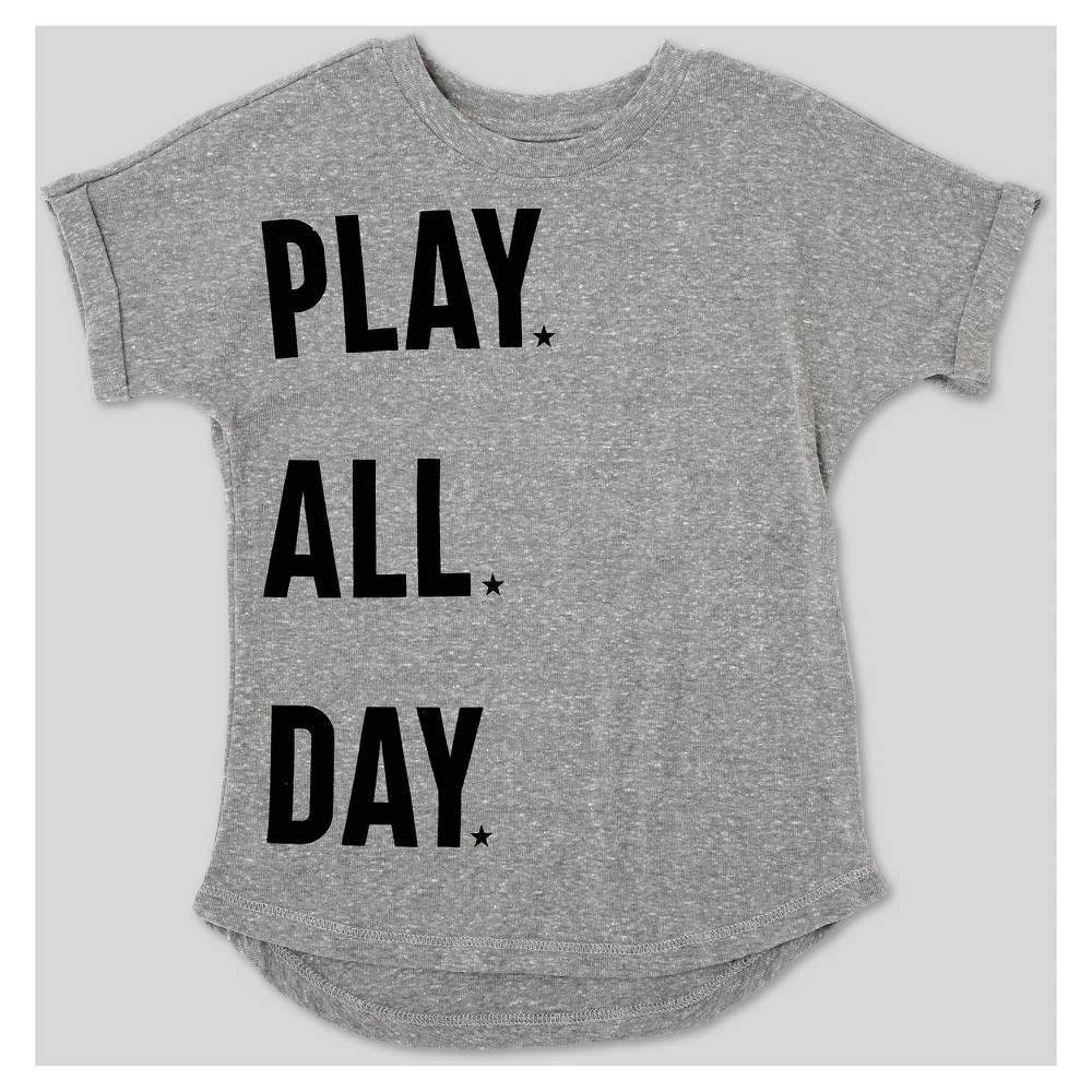 Afton Street Toddler Boys' Short Sleeve T-Shirt - Heather Gray 12M