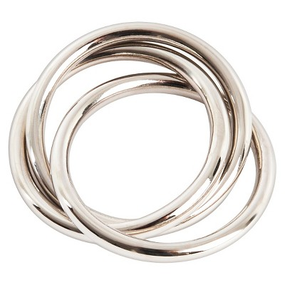 Three Rings Napkins Rings - Silver (Set of 4)