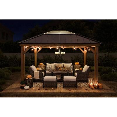 Echo Park 10' x 12' Copper Steel Top Canopy Outdoor Vented Gazebo - Sunjoy
