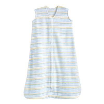 Halo Sleepsack Wearable Blanket Microfleece - Multi Stripe Blue S