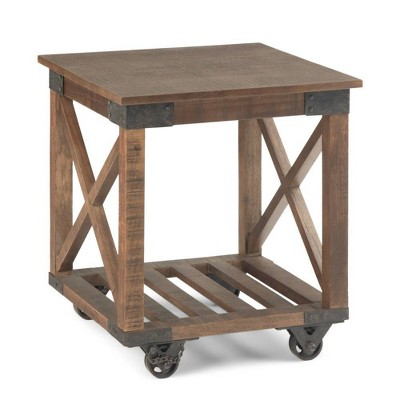 "20"" Barrie End Table Distressed Dark Brown - WyndenHall"