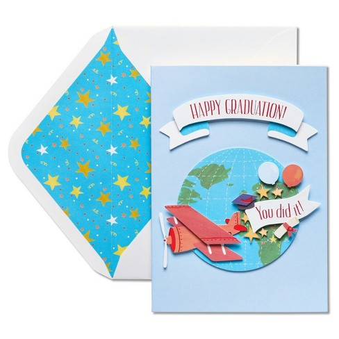 Papyrus World Traveler Graduation Card with Dimensional Attachments - image 1 of 4