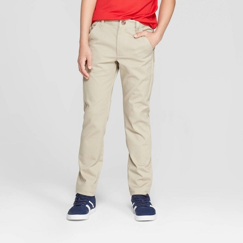 Boys' Skinny Twill Uniform Chino Pants - Cat & Jack™ - image 1 of 3