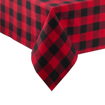 Farmhouse Living Holiday Buffalo Check Tablecloth - Elrene Home Fashions
