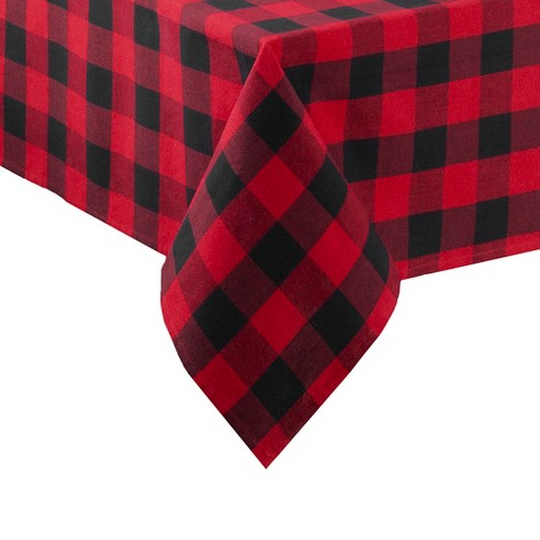 Farmhouse Living Holiday Buffalo Check Tablecloth - Red/Black - Elrene Home Fashions - image 1 of 3