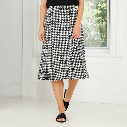 Women's Birdcage Midi Skirt - Who What Wear™ Black - image 1 of 3