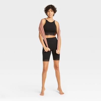 Women's Lace Trim Lounge Bike Shorts - Colsie™
