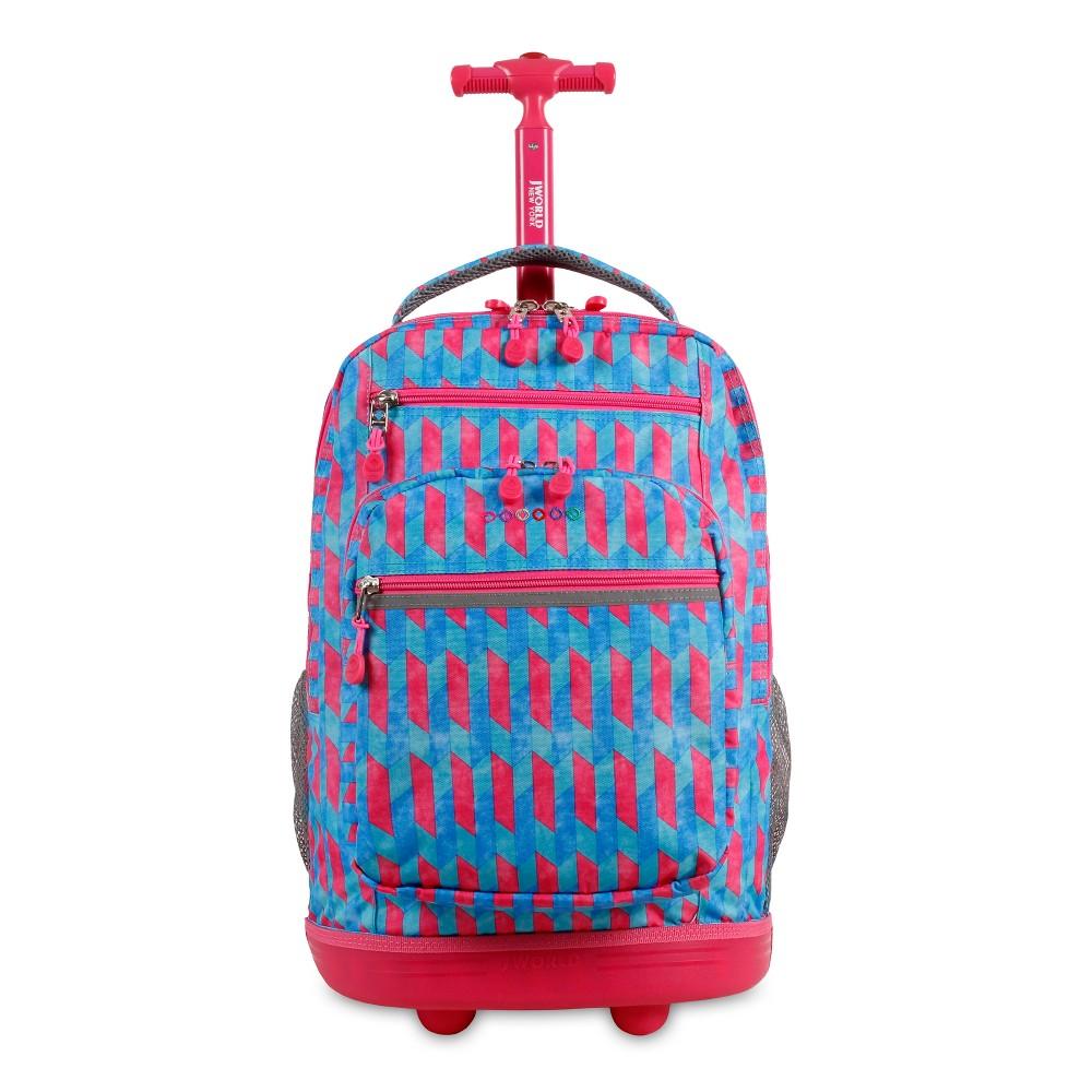 J World 20 Sundance Laptop Rolling Backpack - Nordic, Blue