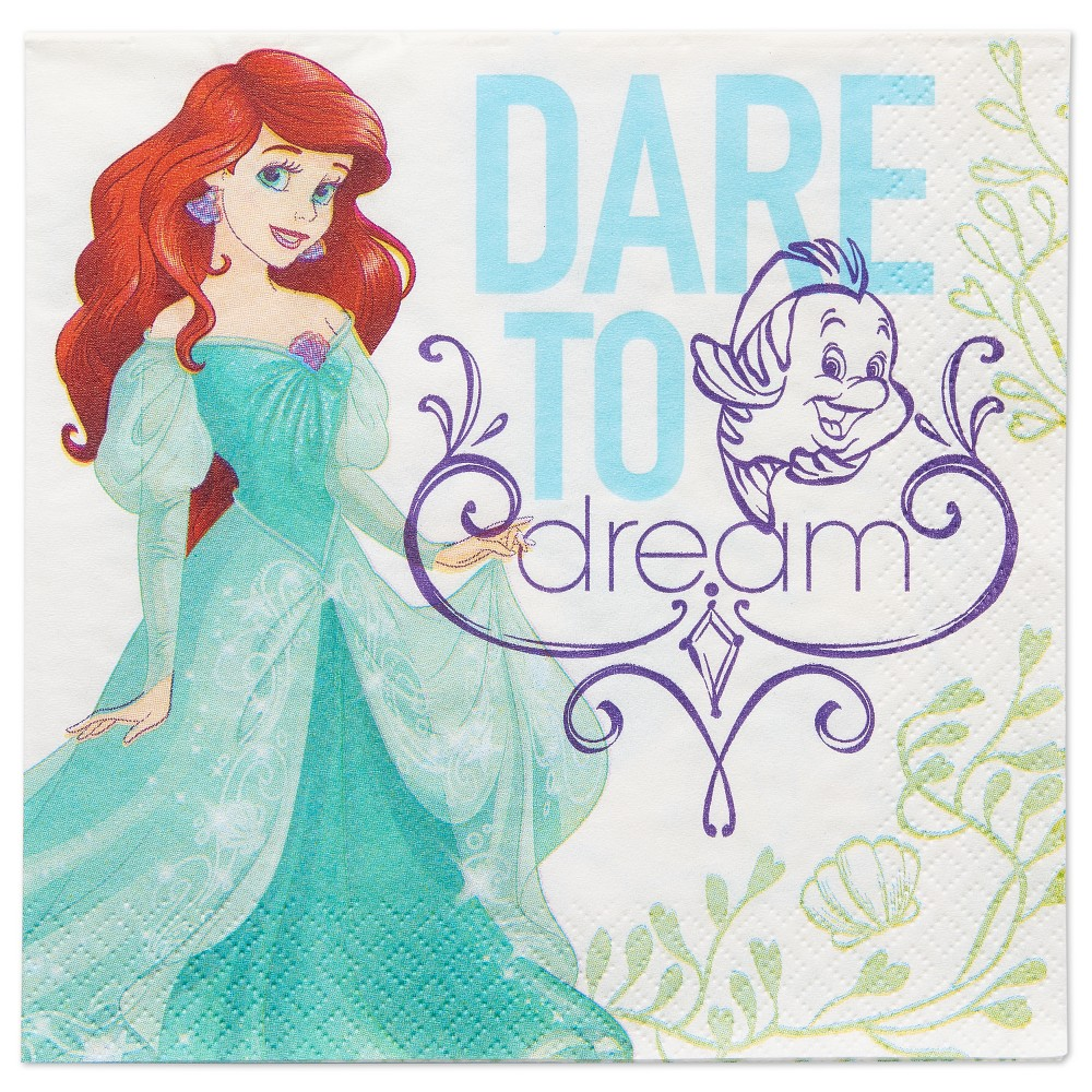 The Little Mermaid 16ct Lunch Napkins, Multi-Colored