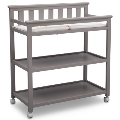Delta Children Adley Changing Table with Casters - Gray