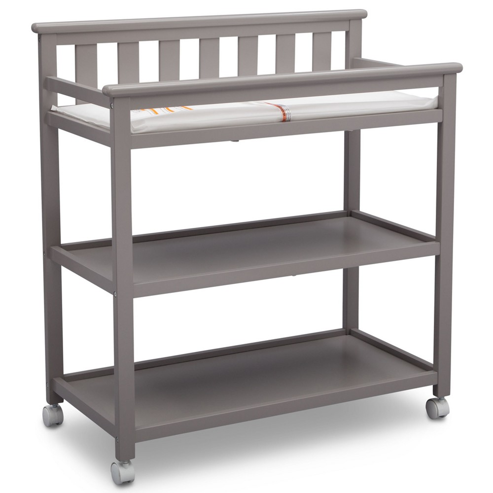 Image of Delta Children Adley Changing Table with Casters - Gray