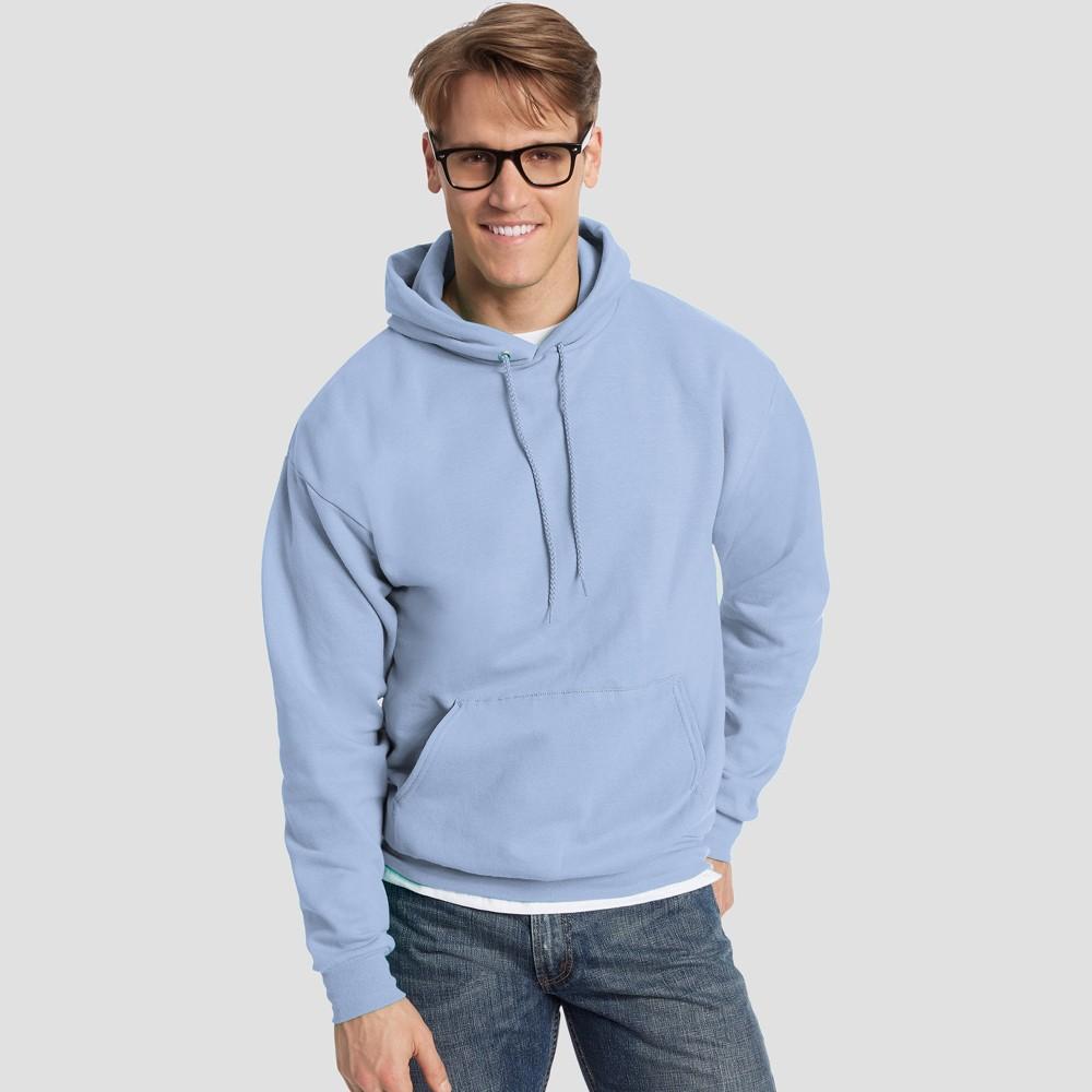 Hanes Men's EcoSmart Fleece Pullover Hooded Sweatshirt - Light Blue XL