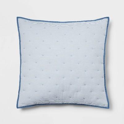 Seersucker Micro Stripe Quilt Sham - Threshold™
