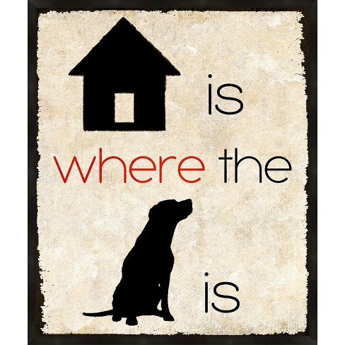 Home Is Where The Dog Is Wall Art - image 1 of 1