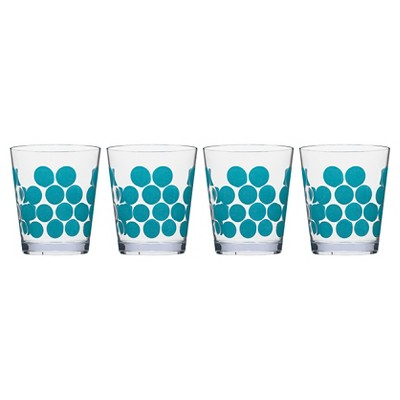 Zak Designs 4pk Double Old Fashioned Tumblers Azure Dots