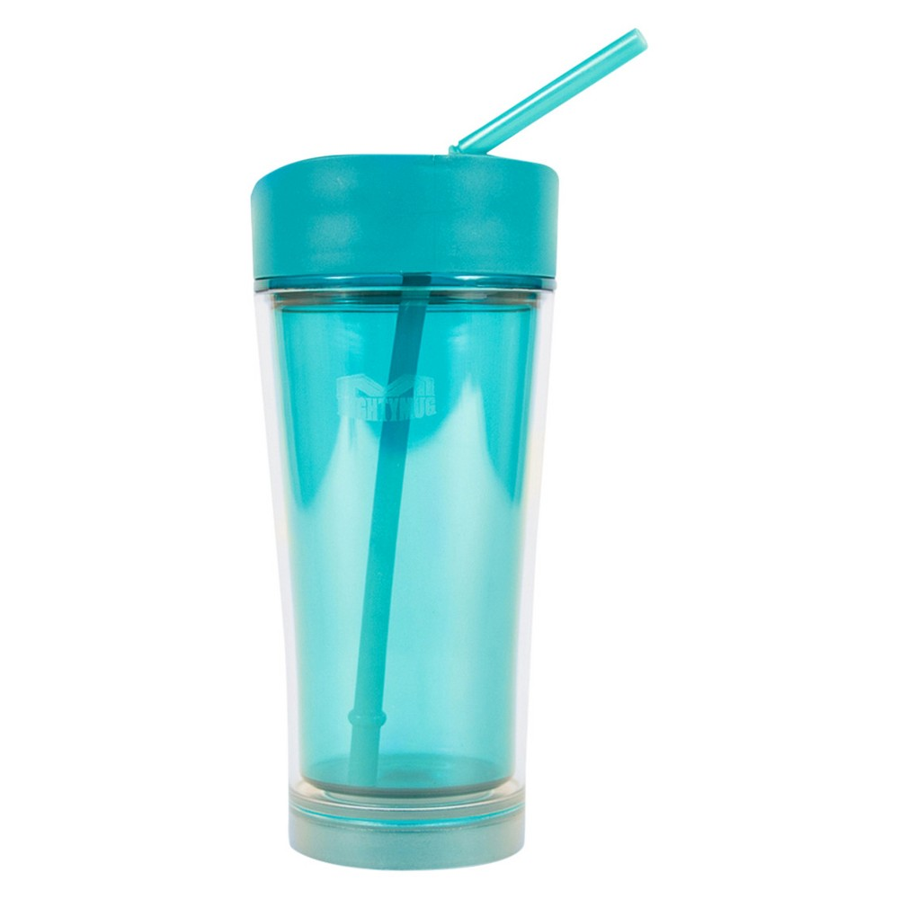 Image of Mighty Mug 20oz Plastic Insulated Ice Tumbler - Teal (Blue)