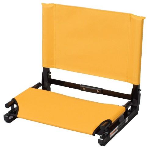 Stadium Chair Game Changer Heavy Duty Folding Canvas Bleacher Cushion Seat Gold