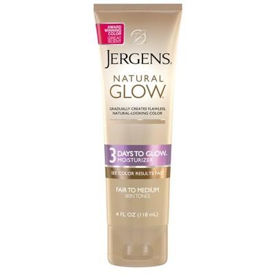 Jergens 3 Days to Glow Moisturizer - Fair to Medium - 4 fl oz