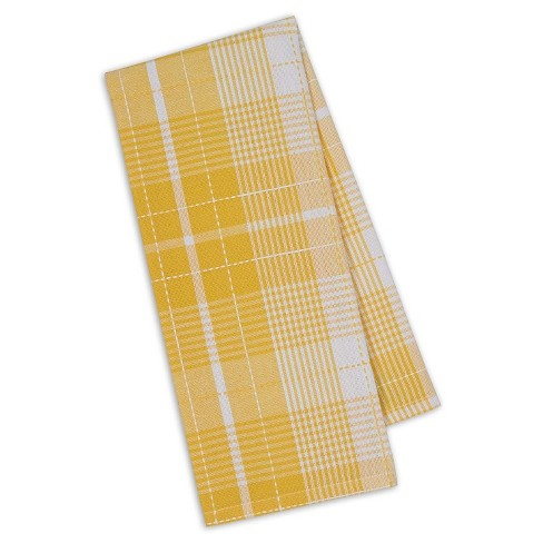 "Daffodil Plaid Dishtowel Yellow Set Of 4 (18""X28"") - Design Imports - image 1 of 1"