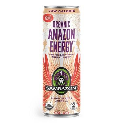 Sambazon Lo-Cal Blood Orange Acerola Energy Drink - 12 fl oz Can