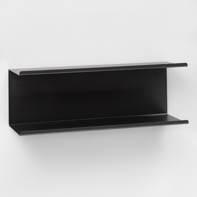 Bent Metal Double Shelf (24 )- Dark Gray - Project 62™