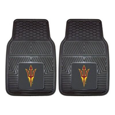 NCAA Arizona State University Vinyl Car Mat Set - 2pc