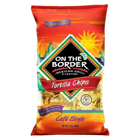 On The Border Café Style Tortilla Chips - 12oz - image 1 of 1